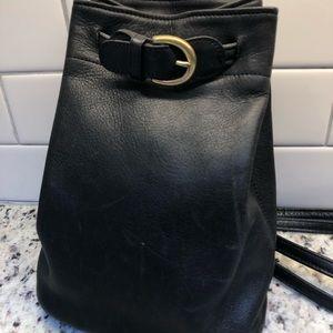 Coach vintage black bucket backpack